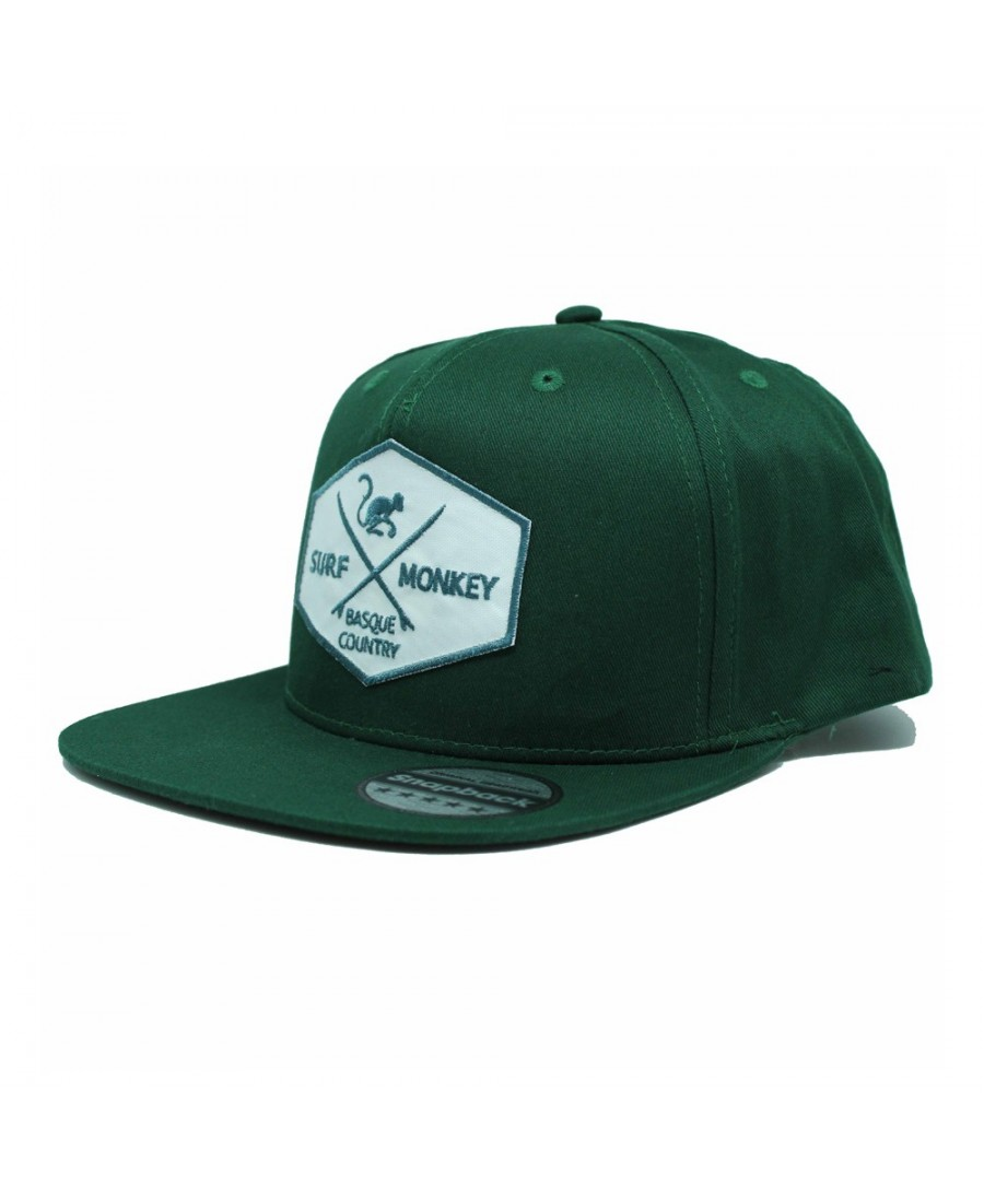 Surf Monkey Trucker Cap -/- Surf Style -/- Surf Monkey Trucker Cap -/- Surf Style -/- 5 Panel Snapback Rapper Green Cap